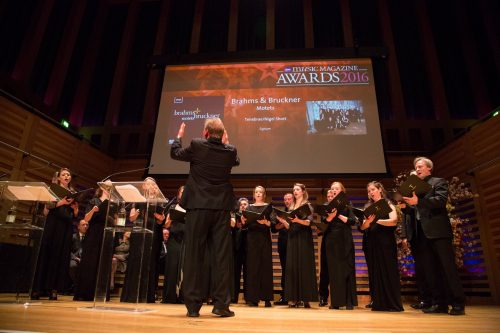 Tenebrae performing Bruckner's 'Christus Factus Est' at the BBC Music Magazine Awards Ceremony 2016