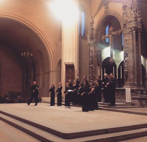 Tenebrae performing in Ampleforth Abbey