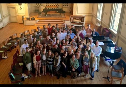 Nigel and the students of Westminster Choir College